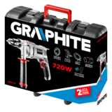 Graphite boormachine 720 watt koffer