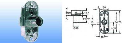 Draaistangslot type 1301 doorn 15mm