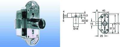 Draaistangslot type 1371 doorn 25mm