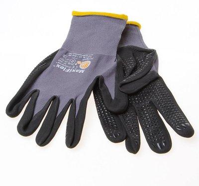 Maxiflex Handschoen zwart met nitril-coating