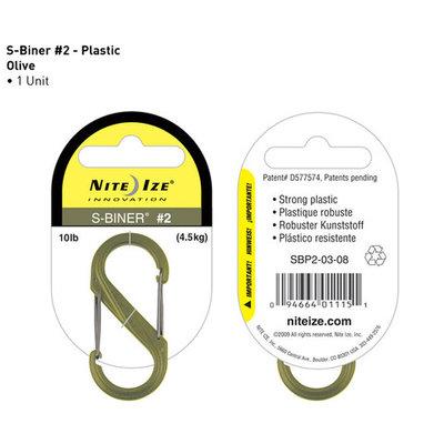S-Biner plastic olive 50mm