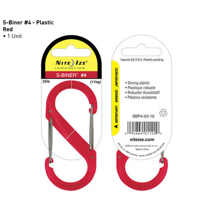 S-Biner plastic rood 90mm