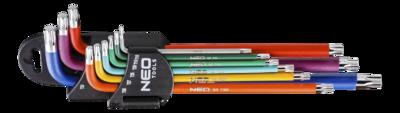 Neo Torx sleutelset rainbow T10 tot T50