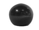 Kogelknop zwart kunstof M12 40mm