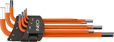 Neo inbussleutelset 7 dlg 1,5/6mm