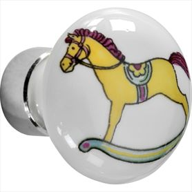 Deco nikkel paard