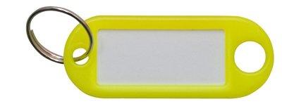 Sleutellabel geel met Ring