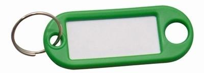 Sleutellabel groen met Ring