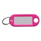 Sleutellabel roze neon