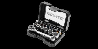 Graphite Bitset 24 delig met ratelsleutel