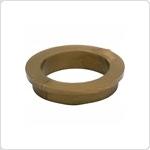 Deurkruklager 18x16mm 1mm dik wandig bruin H4mm/B21mm