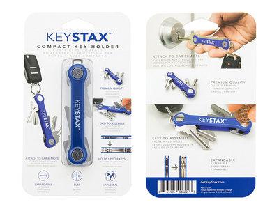 Keystax blauw Kunstof