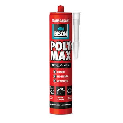 Bison Poly Max transparant 300 gr koker