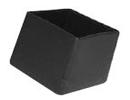 Omsteekdop vierkant zwart 25x25mm