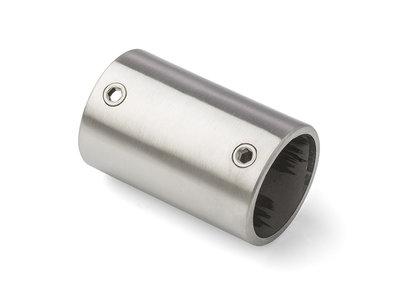 Rechte koppeling 42,4mm Rvs