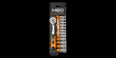 Neo Doppenset 14 dlg, 1/4 aansluiting 4-13mm