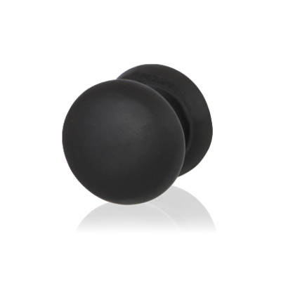 Zwart Meubelknop 25mm/ hoogte 25mm