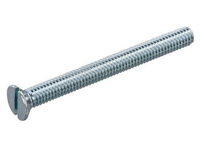 Metaalschroef vk M2,5x25mm ijzerverzinkt