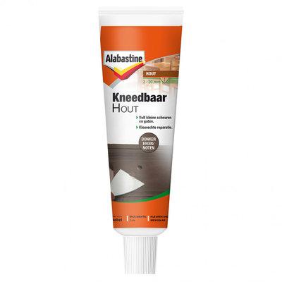 Alabastine kneedbaar hout donker eiken/noten 50 ml
