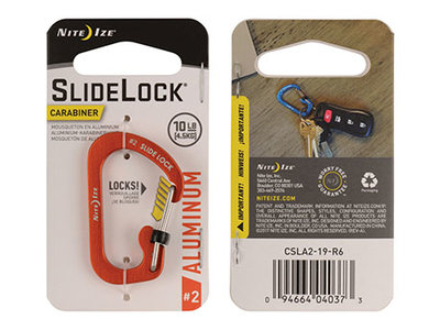 Nite Ize Slidelock 2 Carabiner Aluminium Orange