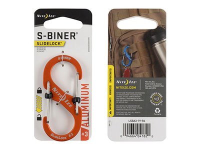 Nite Ize S-Biner 3 Slidelock Aluminium Orange