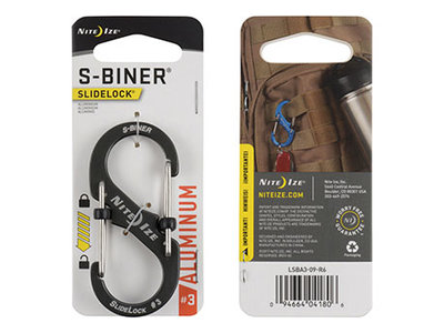 Nite Ize S-Biner 3 Slidelock Aluminium Gray