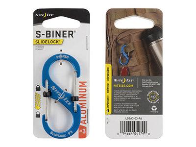 Nite Ize S-Biner 3 Slidelock Aluminium Blue