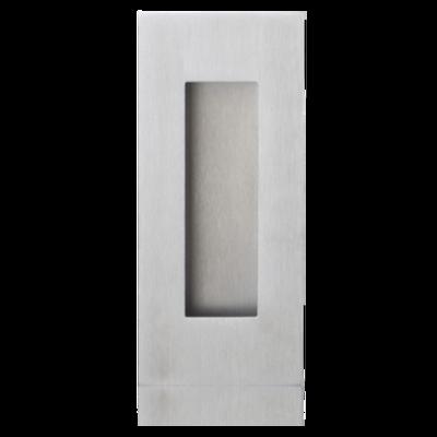 RVS mat schuifdeurkom rechthoekig 102x51mm