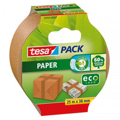 Tesa Tesapack paper EcoLogo verpakkingstape bruin 38 m x 25 mm
