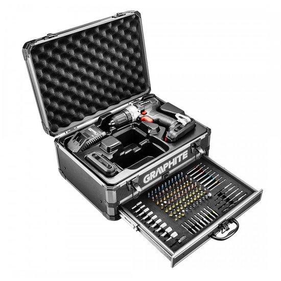 Accuboormachine 18v in alu koffer