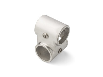 Kruis connector offset 28mm Rvs