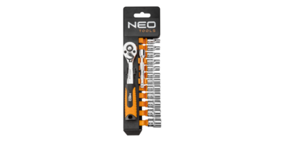 Neo Doppenset 14 dlg, 1/4 aansluiting 4-13mm