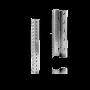 RVS mat sleutelkastje 420x75mm met 5 haken