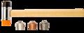 Neo Terugslag Vrije Hamer 250gr, 28mm verwisselbaar