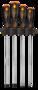 NEO Schroevendraaierset 4 Delig 250 mm