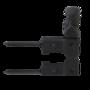 Smeedijzer luikvastzetter vast max. luikdikte 30mm met tuimelaar