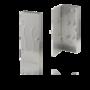 RVS mat sleutelkastje 285x115mm met 6 haken
