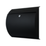 RVS zwart postkast 330x375mm